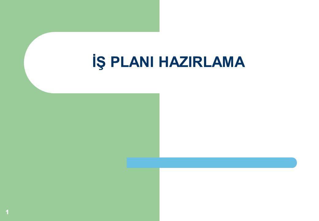 İŞ PLANI HAZIRLAMA