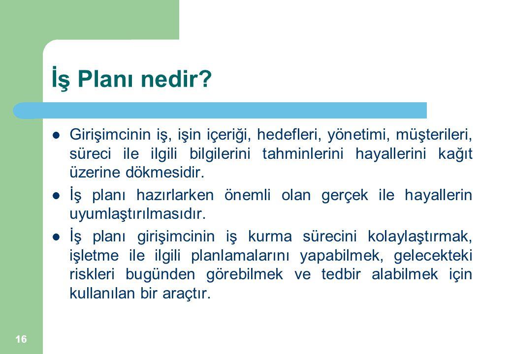 İş Planı nedir