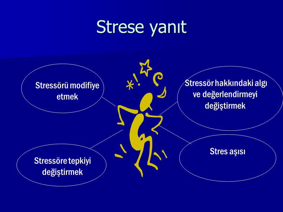 Strese yanıt Stressör hakkındaki algı ve değerlendirmeyi değiştirmek