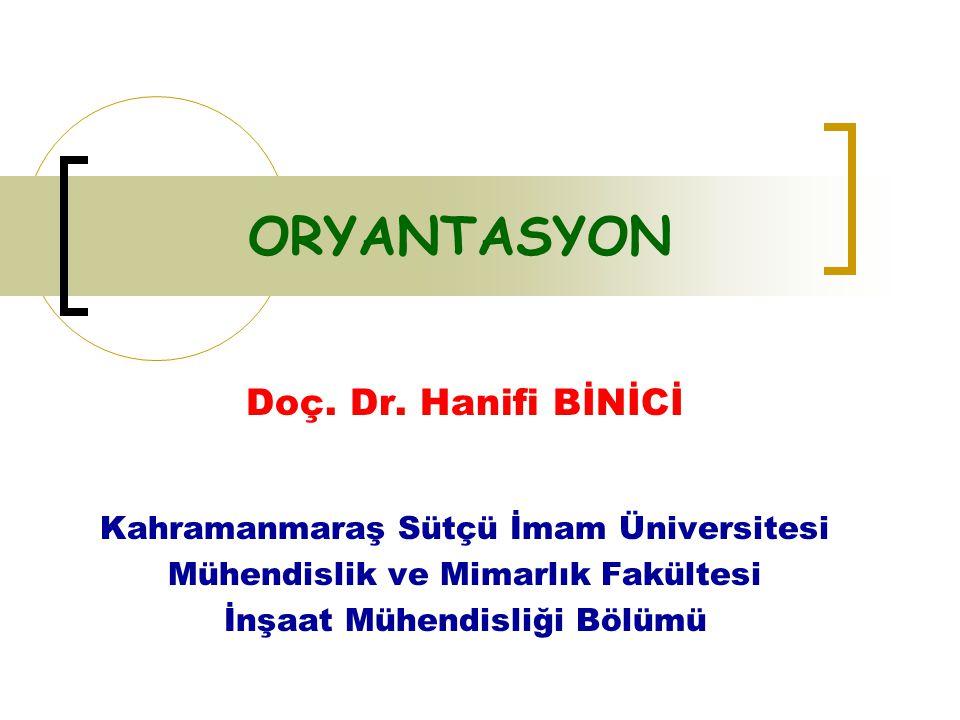ORYANTASYON Doç. Dr. Hanifi BİNİCİ