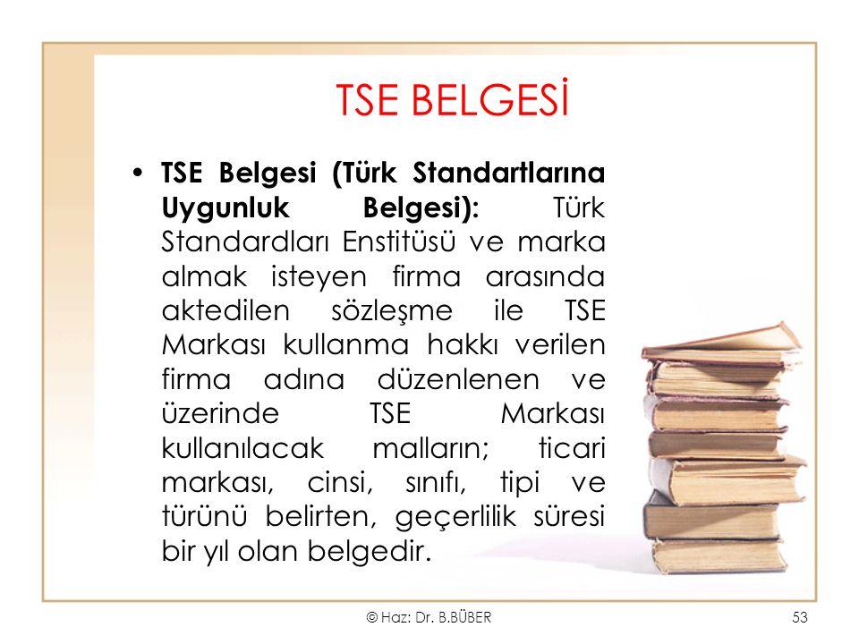 TSE BELGESİ