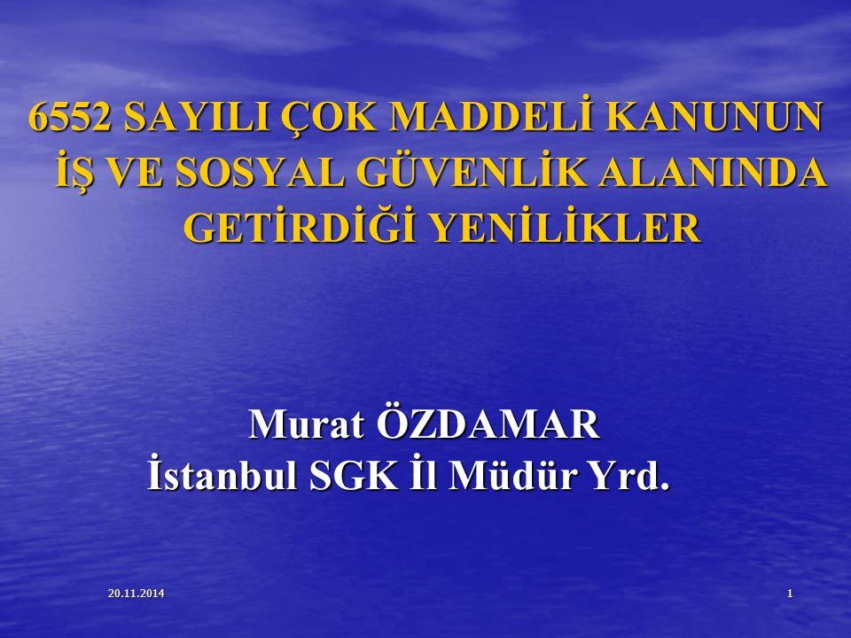 İstanbul SGK İl Müdür Yrd.