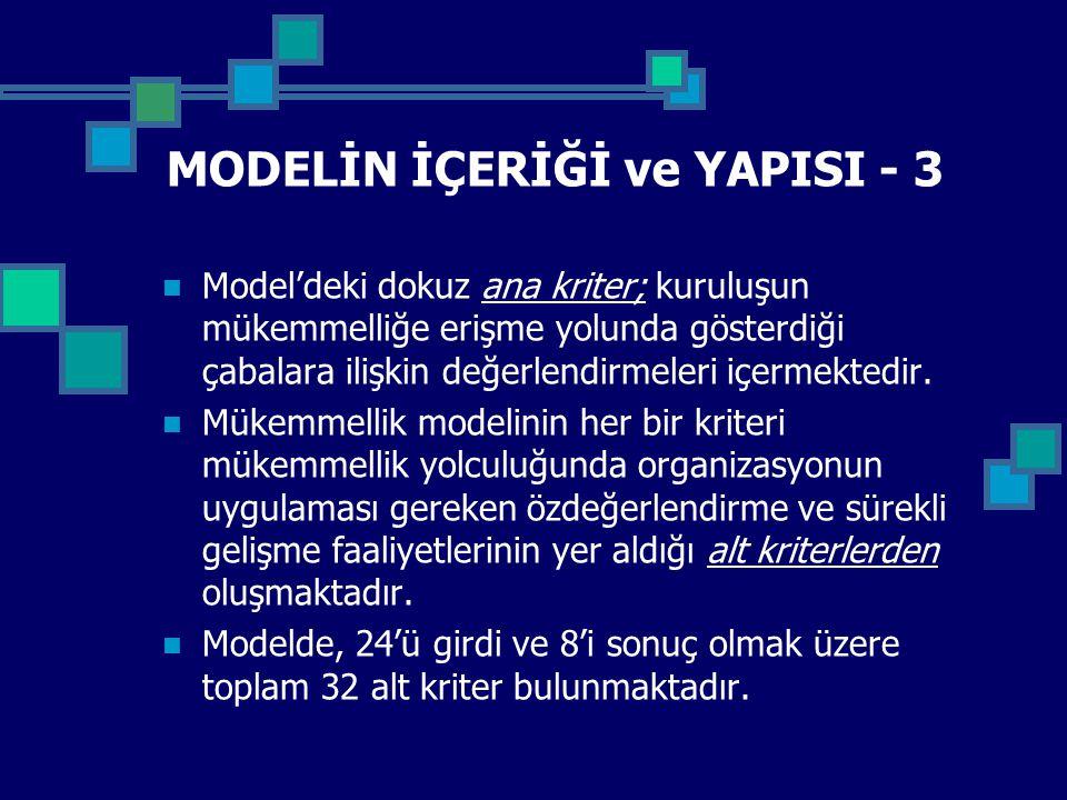 MODELİN İÇERİĞİ ve YAPISI - 3