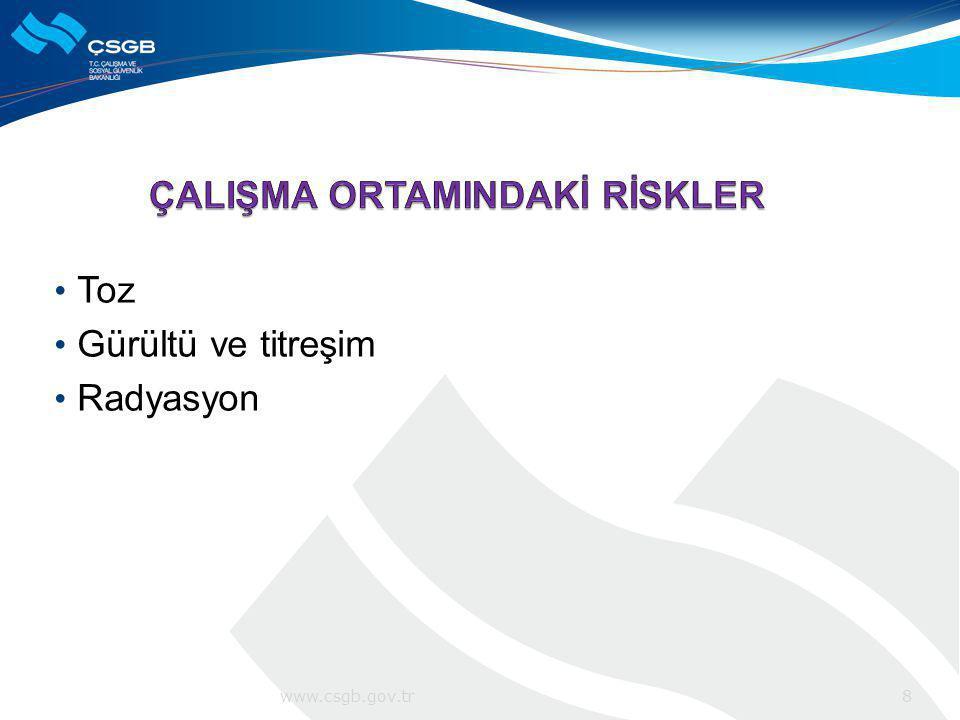 ÇALIŞMA ORTAMINDAKİ RİSKLER