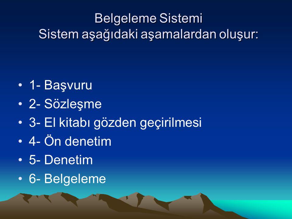 Belgeleme Sistemi Sistem aşağıdaki aşamalardan oluşur: