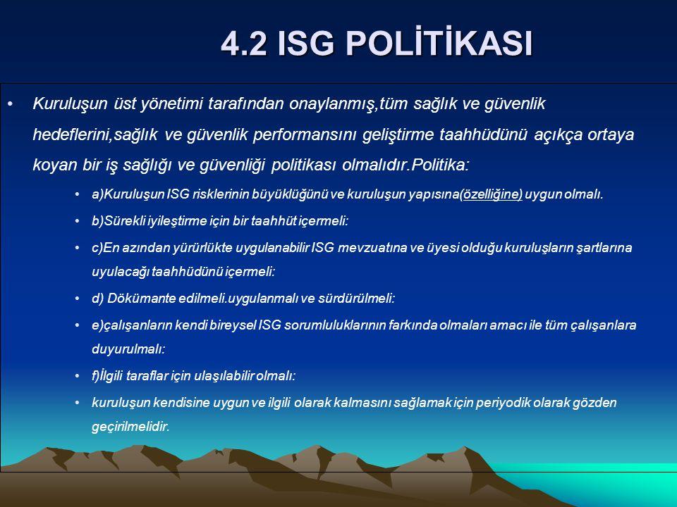 4.2 ISG POLİTİKASI