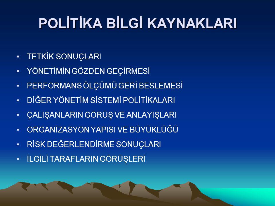 POLİTİKA BİLGİ KAYNAKLARI