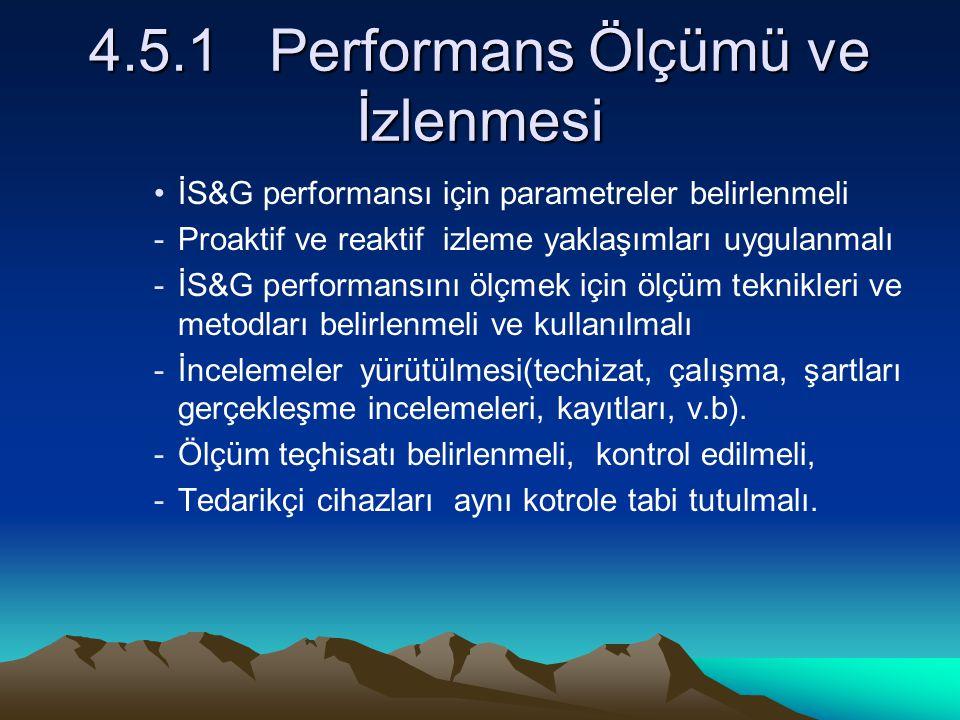4.5.1 Performans Ölçümü ve İzlenmesi