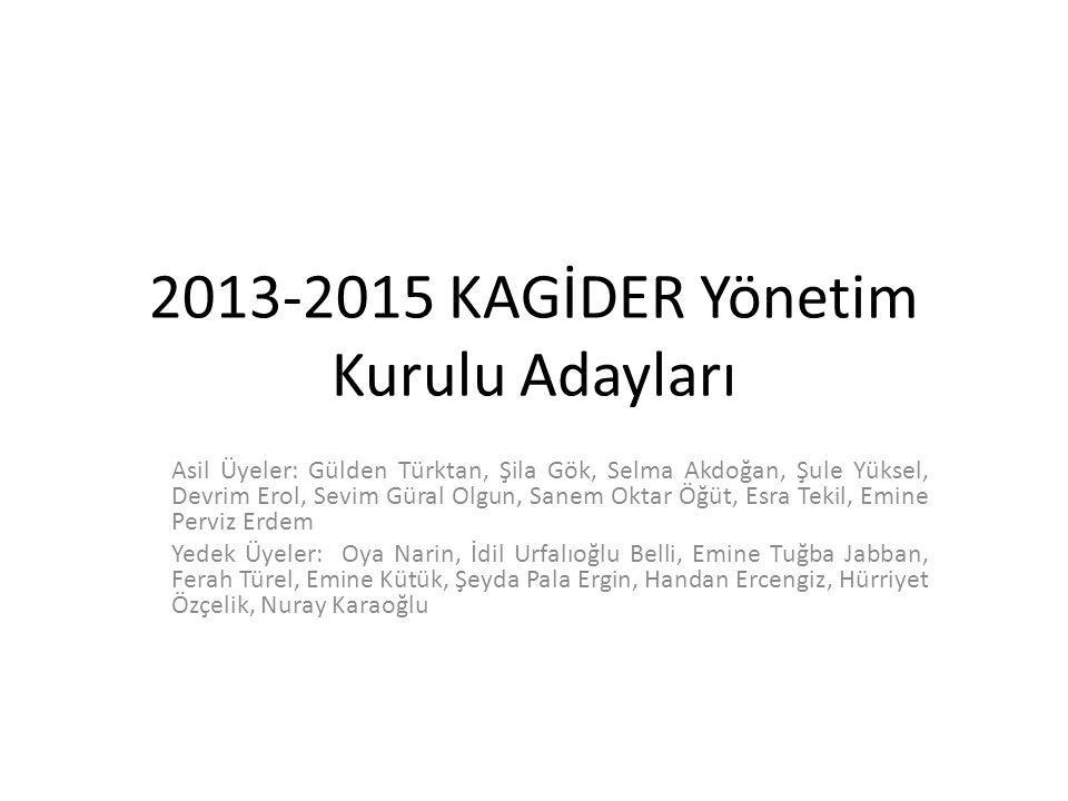 2013-2015 KAGİDER Yönetim Kurulu Adayları