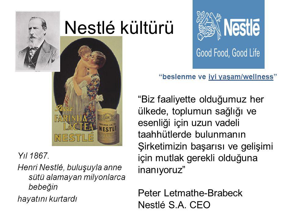 Nestlé kültürü beslenme ve iyi yaşam/wellness