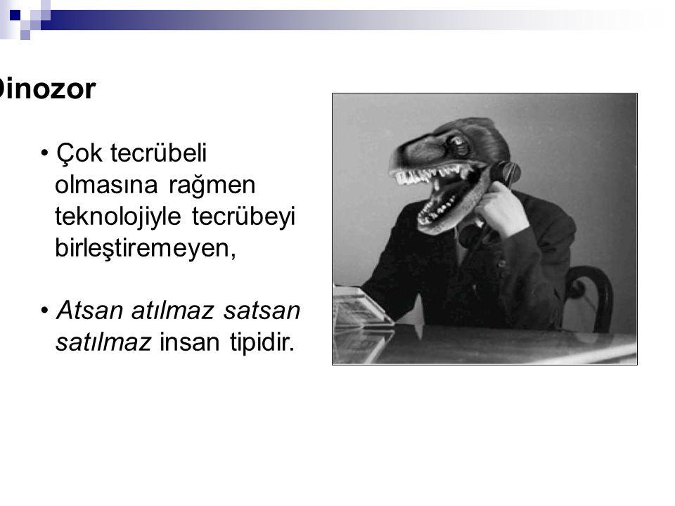 Dinozor Çok tecrübeli olmasına rağmen teknolojiyle tecrübeyi