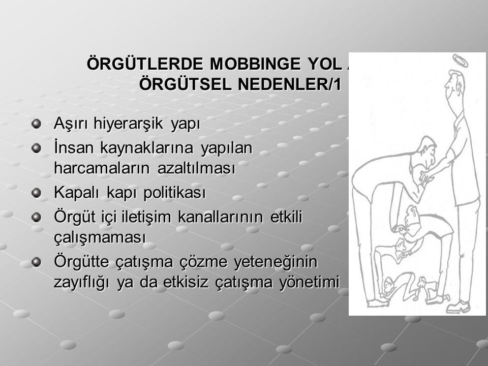 ÖRGÜTLERDE MOBBINGE YOL AÇAN ÖRGÜTSEL NEDENLER/1