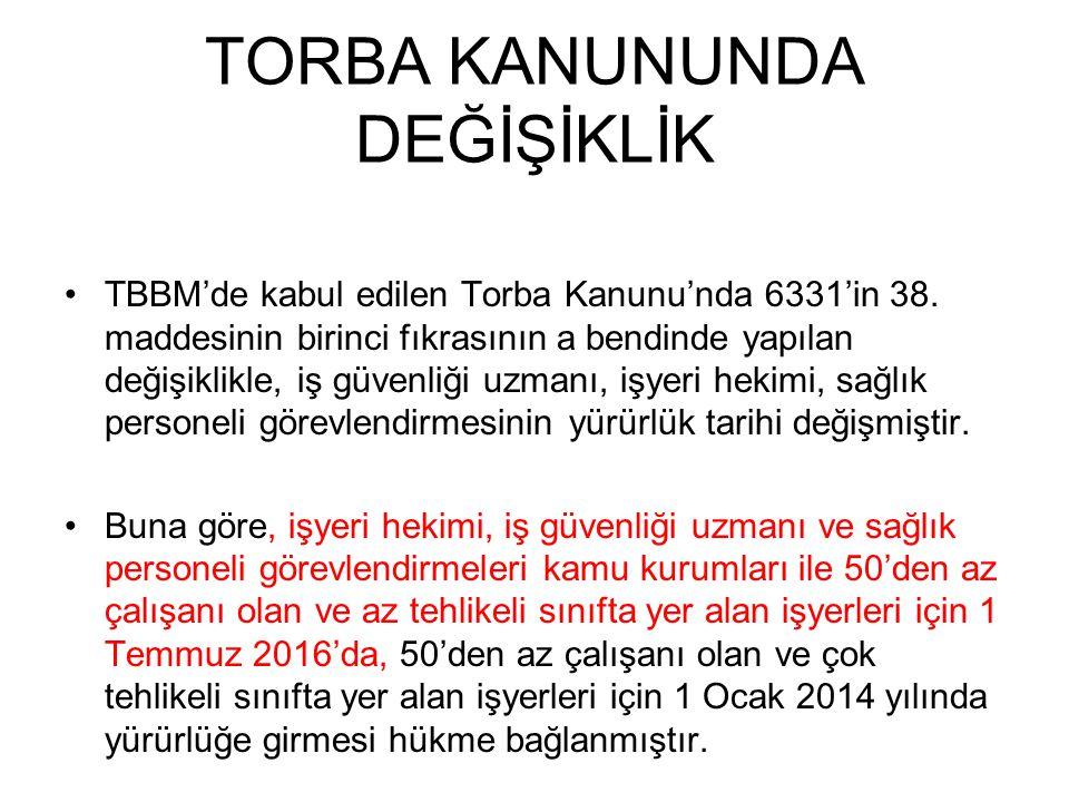 TORBA KANUNUNDA DEĞİŞİKLİK