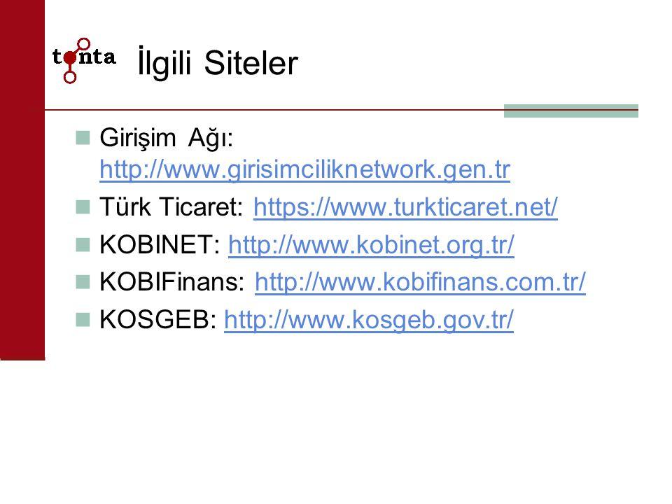 İlgili Siteler Girişim Ağı: http://www.girisimciliknetwork.gen.tr