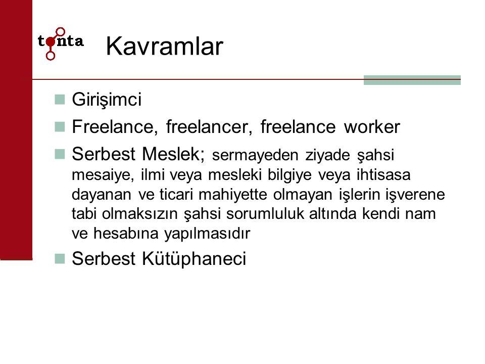 Kavramlar Girişimci Freelance, freelancer, freelance worker