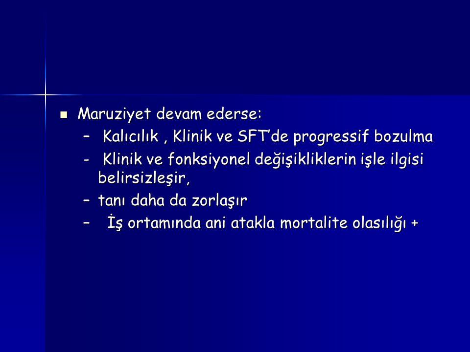 Maruziyet devam ederse: