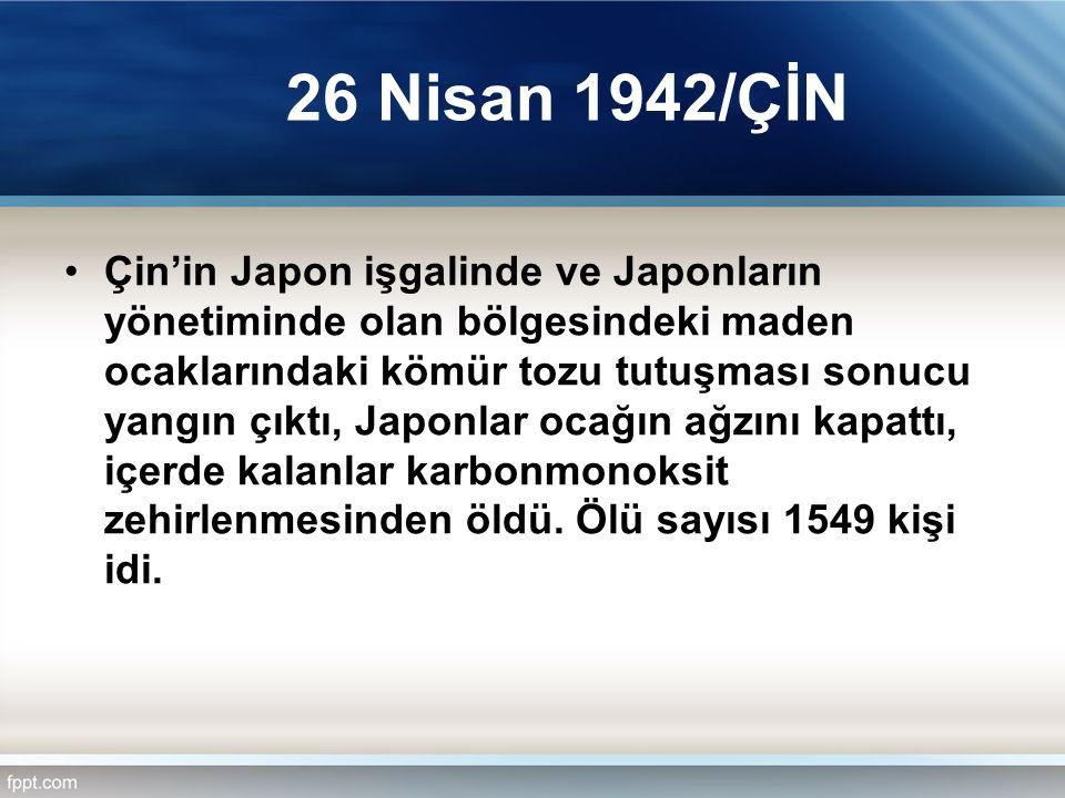 26 Nisan 1942/ÇİN