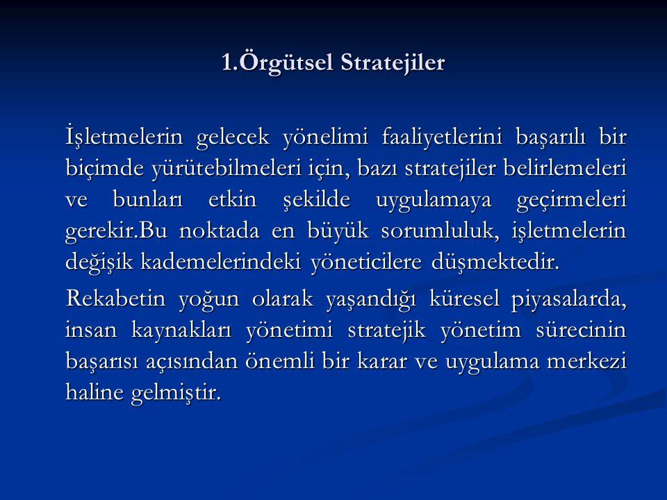 1.Örgütsel Stratejiler