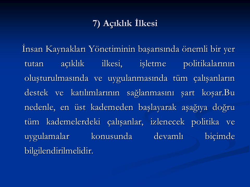 7) Açıklık İlkesi