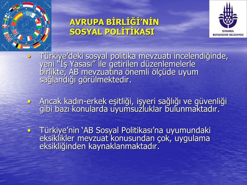AVRUPA BİRLİĞİ'NİN SOSYAL POLİTİKASI