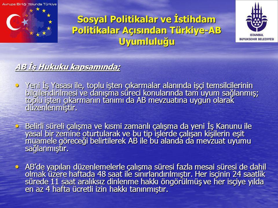 Sosyal Politikalar ve İstihdam Politikalar Açısından Türkiye-AB Uyumluluğu