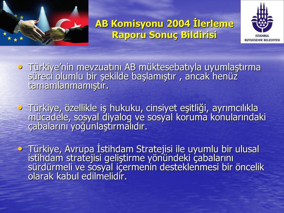 AB Komisyonu 2004 İlerleme Raporu Sonuç Bildirisi