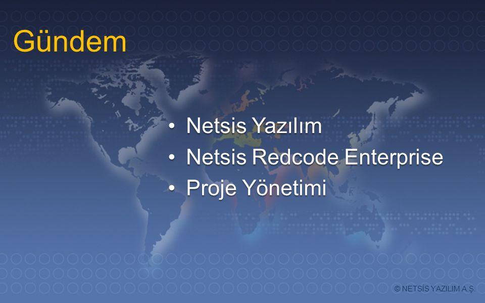 Gündem Netsis Yazılım Netsis Redcode Enterprise Proje Yönetimi Gündem