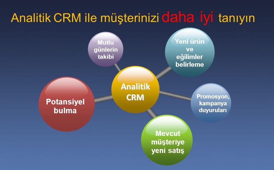 Analitik CRM ile müşterinizi daha iyi tanıyın
