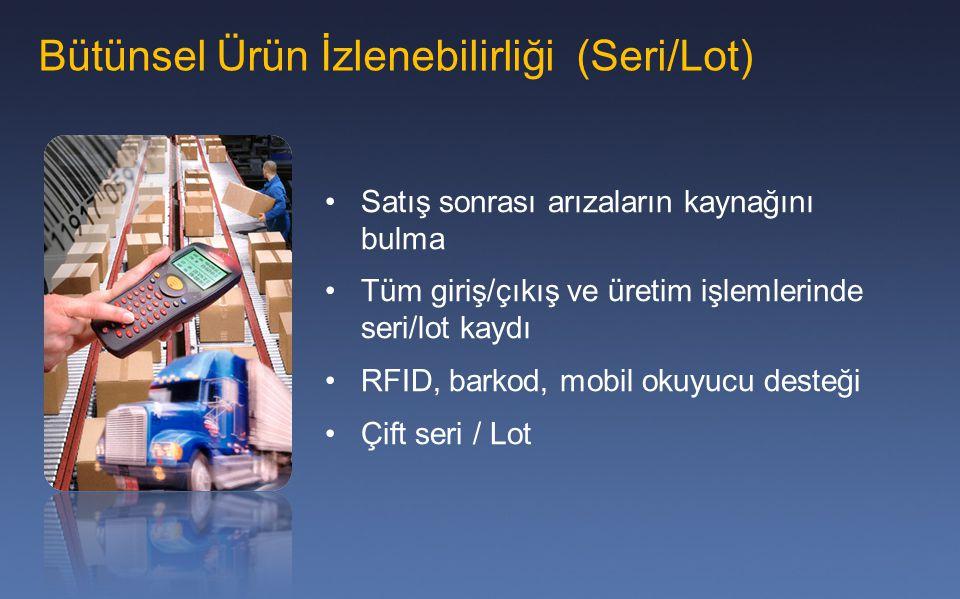 Bütünsel Ürün İzlenebilirliği (Seri/Lot)