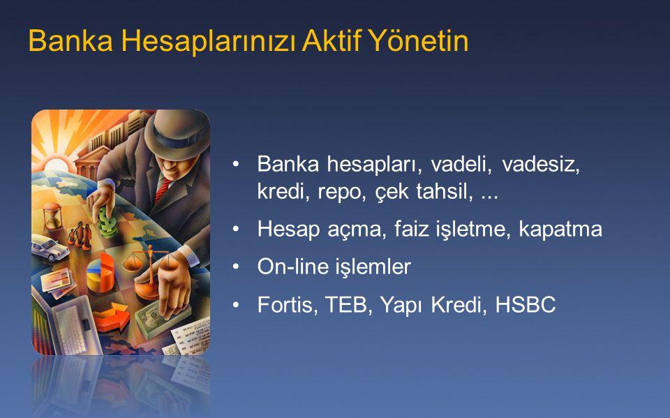 Banka Hesaplarınızı Aktif Yönetin