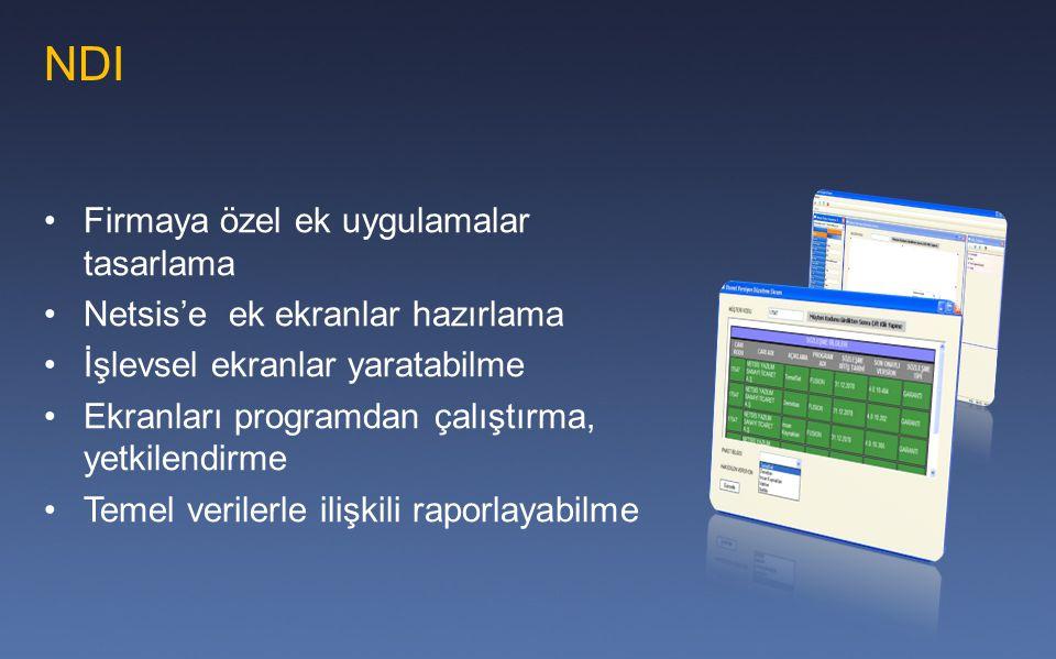 NDI Firmaya özel ek uygulamalar tasarlama