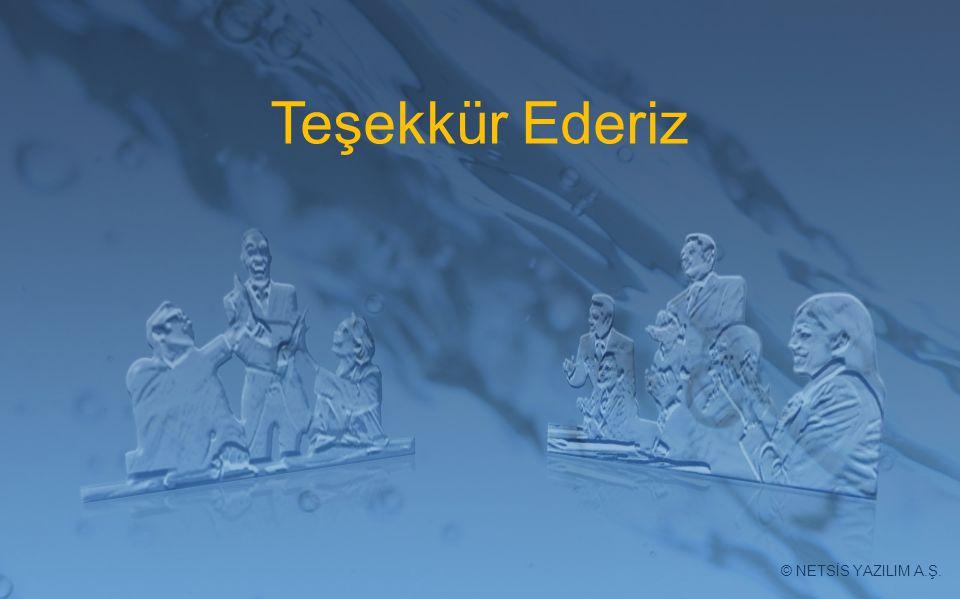 Teşekkür Ederiz Netsis YAZILIM A.Ş © NETSİS YAZILIM A.Ş.