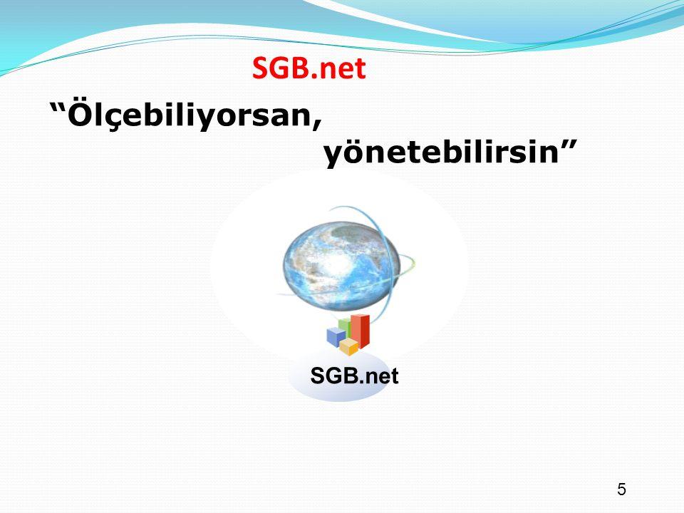 SGB.net Ölçebiliyorsan, yönetebilirsin SGB.net