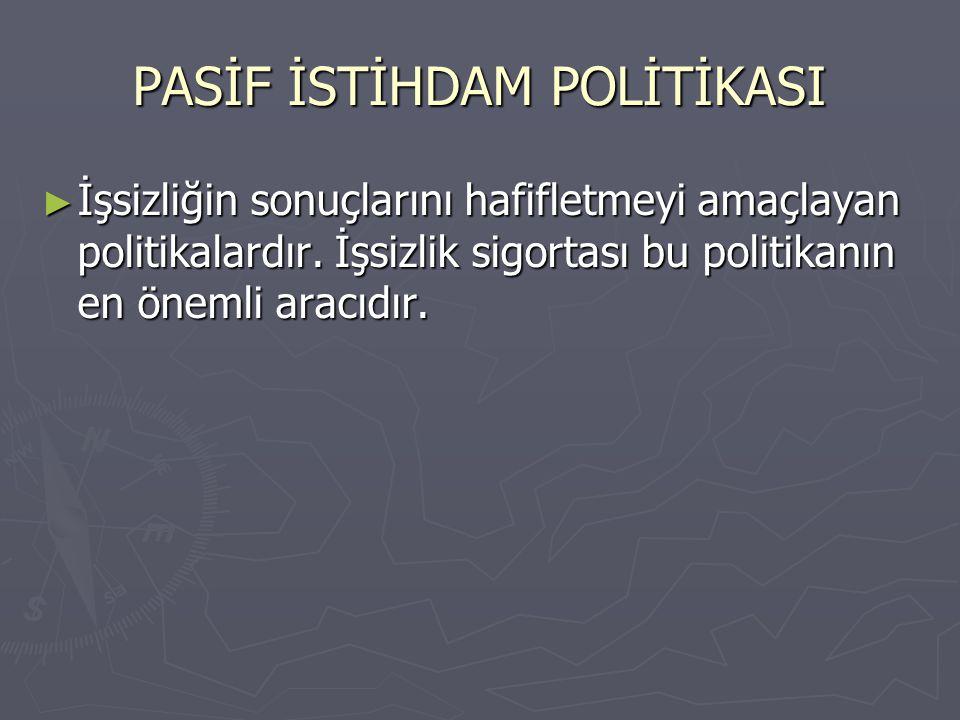 PASİF İSTİHDAM POLİTİKASI