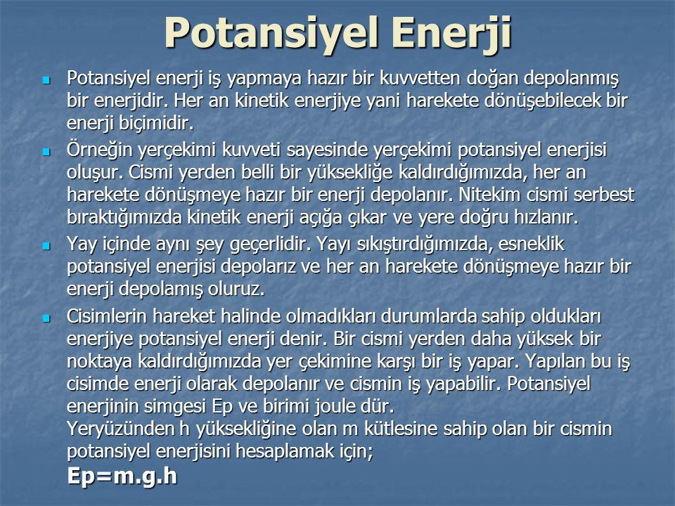 Potansiyel Enerji