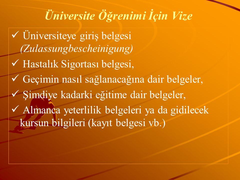 Üniversite Öğrenimi İçin Vize