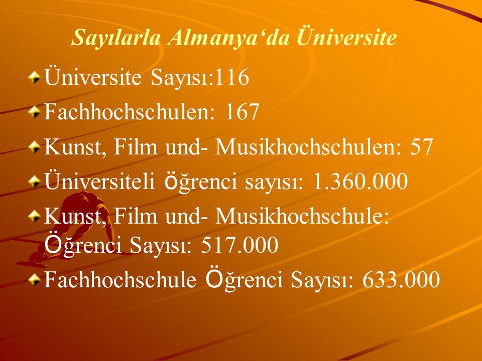 Sayılarla Almanya'da Üniversite