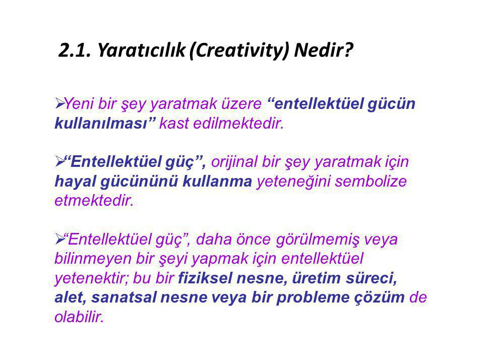 2.1. Yaratıcılık (Creativity) Nedir