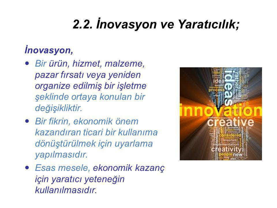 2.2. İnovasyon ve Yaratıcılık;