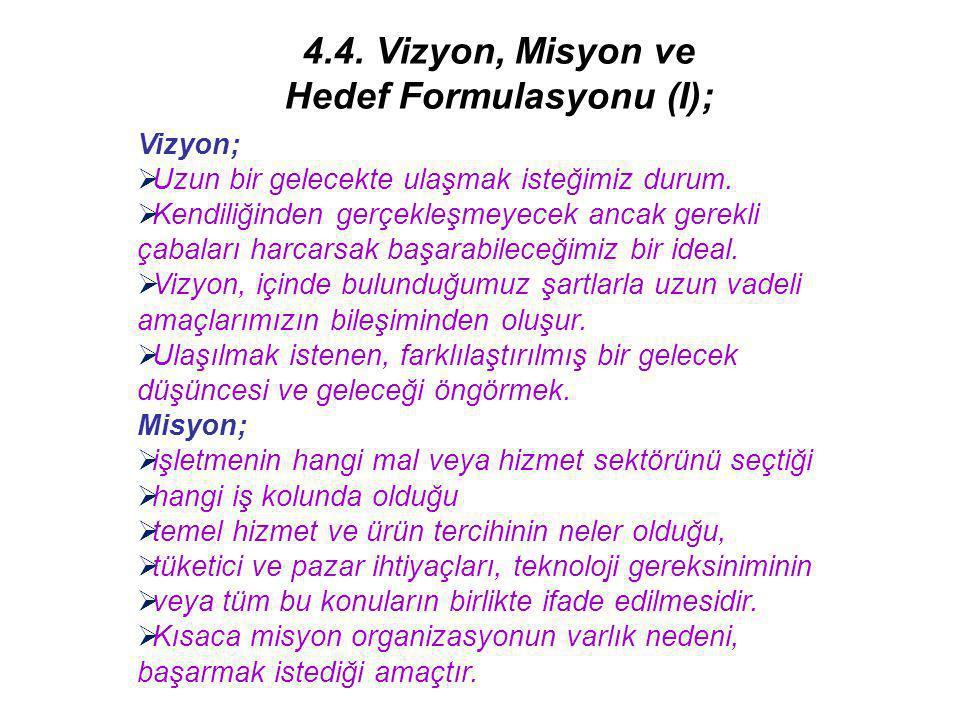Hedef Formulasyonu (I);