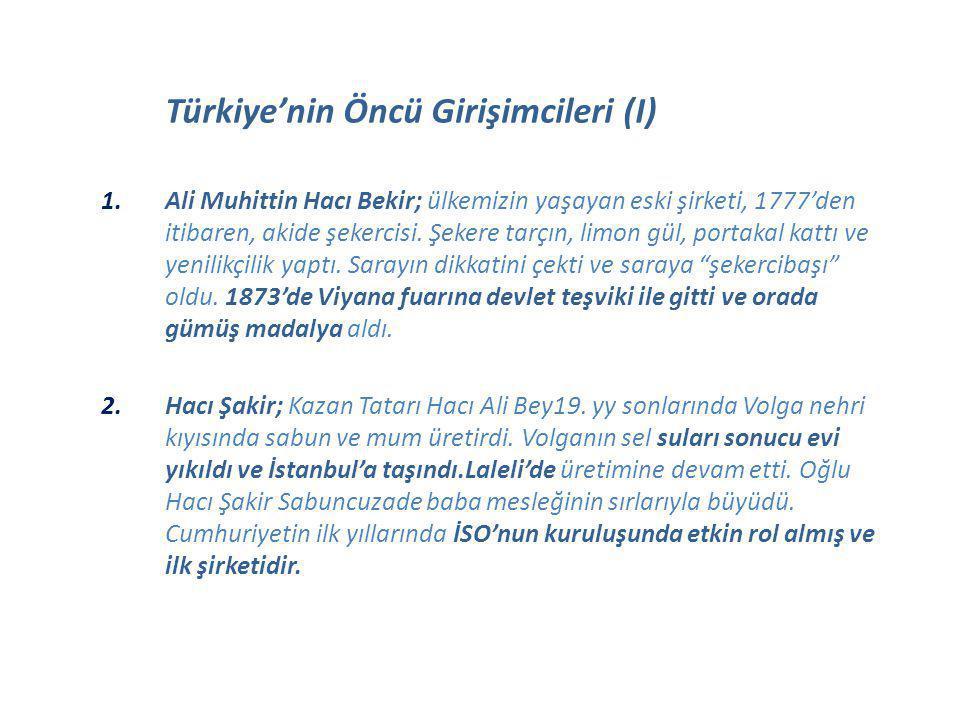 Türkiye'nin Öncü Girişimcileri (I)