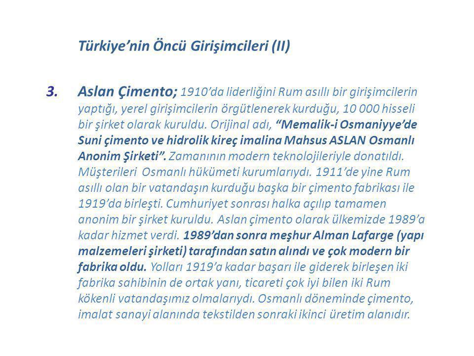 Türkiye'nin Öncü Girişimcileri (II)