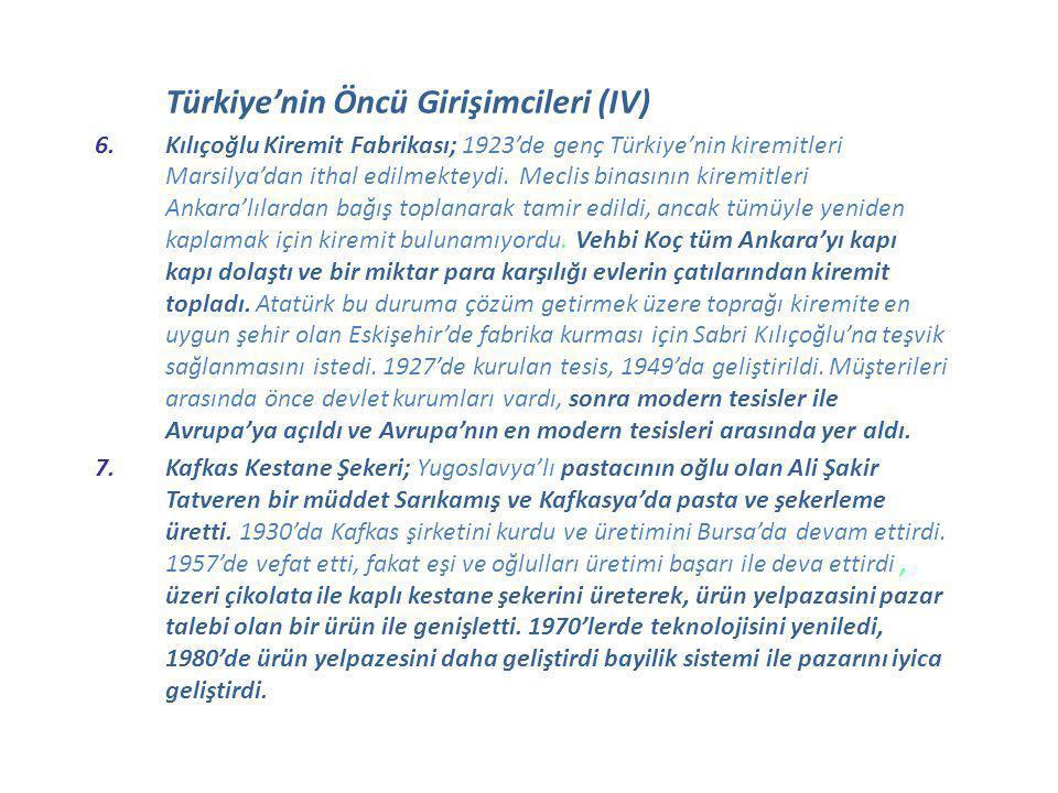 Türkiye'nin Öncü Girişimcileri (IV)
