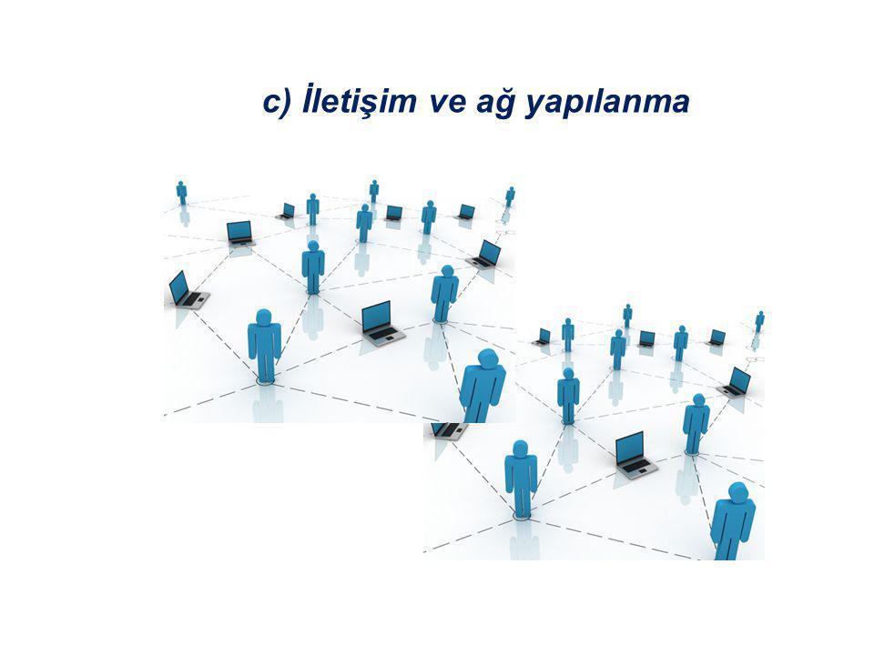 c) İletişim ve ağ yapılanma