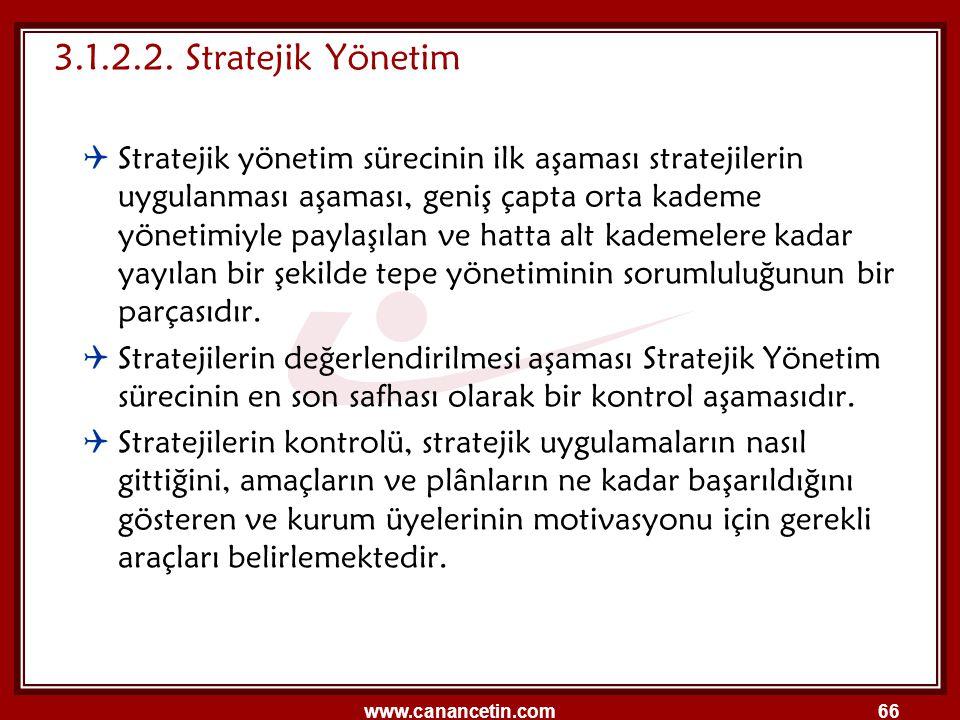 3.1.2.2. Stratejik Yönetim