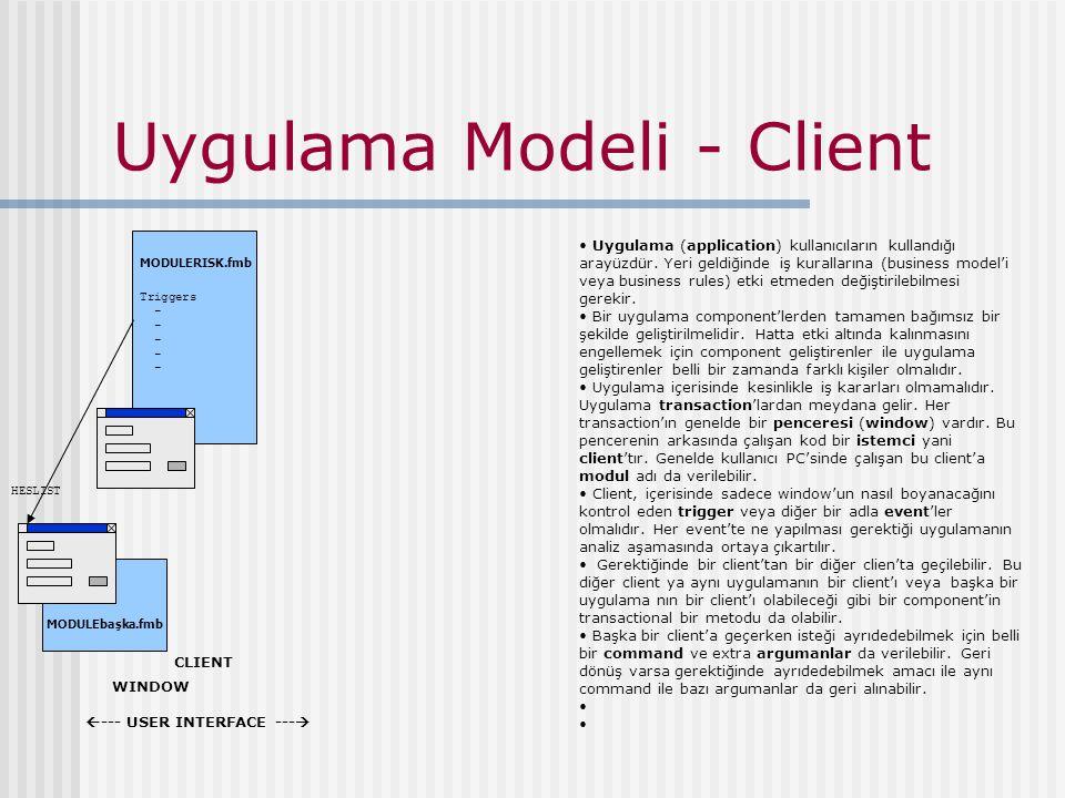 Uygulama Modeli - Client