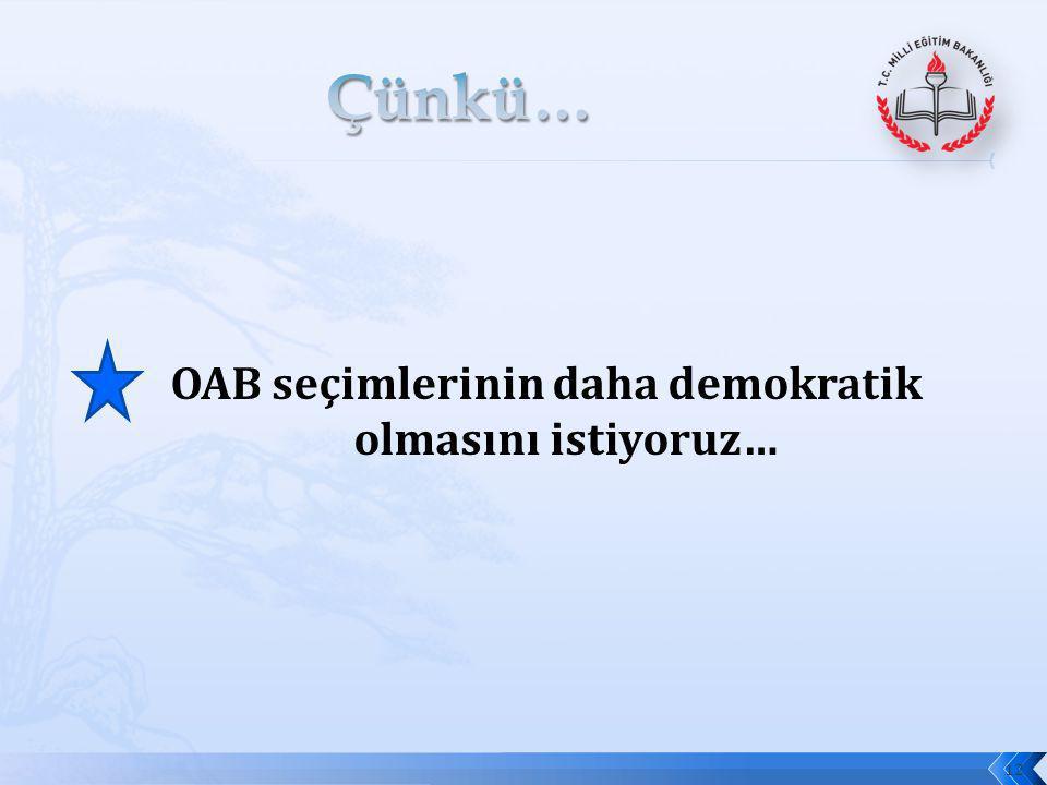 OAB seçimlerinin daha demokratik olmasını istiyoruz…