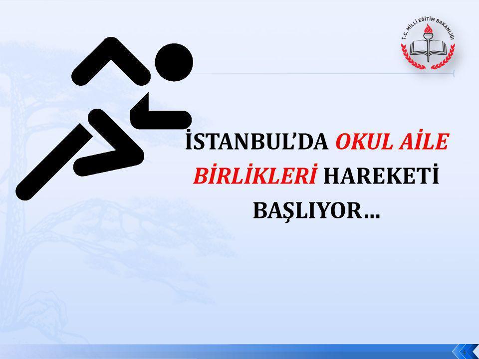 İSTANBUL'DA OKUL AİLE BİRLİKLERİ HAREKETİ BAŞLIYOR…