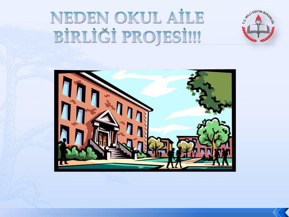 NEDEN OKUL AİLE BİRLİĞİ PROJESİ!!!