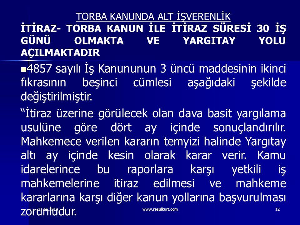 TORBA KANUNDA ALT İŞVERENLİK